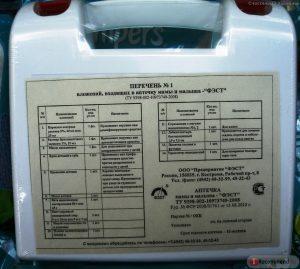 автомобильная аптечка срок годности