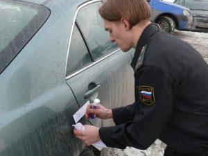 арест автомобиля приставами