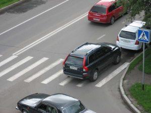 штраф за парковку на переходе