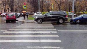 парковка на пешеходном переходе штраф